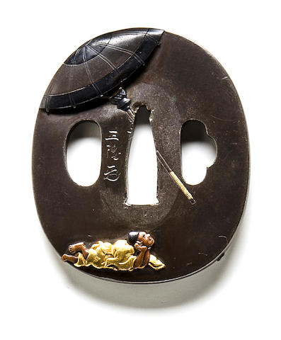 A Hamano school tsuba Edo period (19th century)