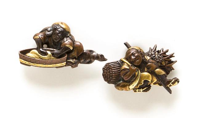 A pair of Mito school menuki Edo period (19th century)