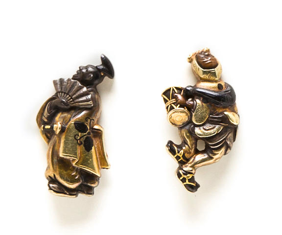 A pair of Hamano school menuki Edo period (18th century)
