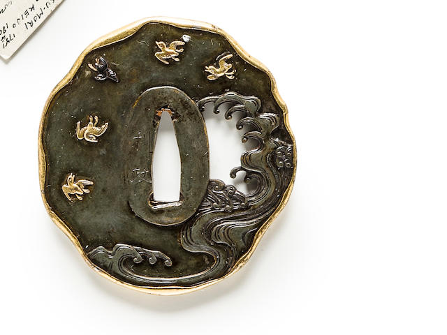 A kinko tsuba By Toshimasa, Edo period (19th century)