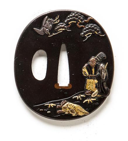 A kinko tsuba Edo period (19th century)