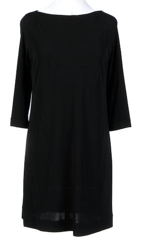 A Lida Baday black boat neck short dress