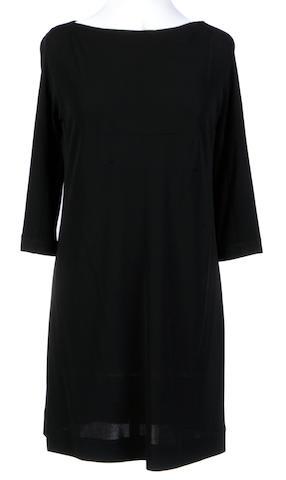 A Lida Baday black boat neck short dress
