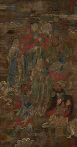 Anonymous   Daoist Deities Among Clouds