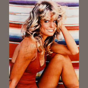 A Farrah Fawcett signed photograph