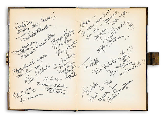 A celebrity signed guestbook, 1975