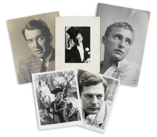 A group of actor signed photographs