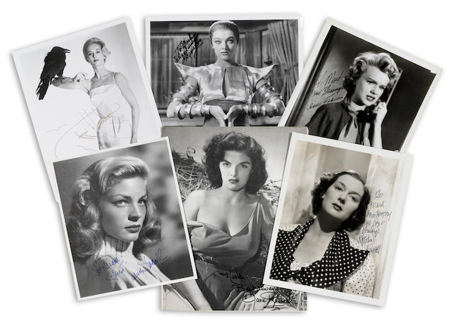 A group of actress signed photographs
