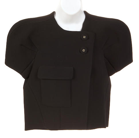 A Balenciaga black short sleeve jacket