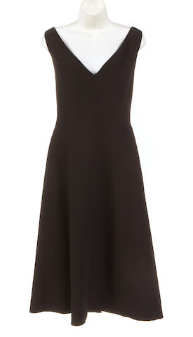An Issac Mizrahi black silk and wool dress