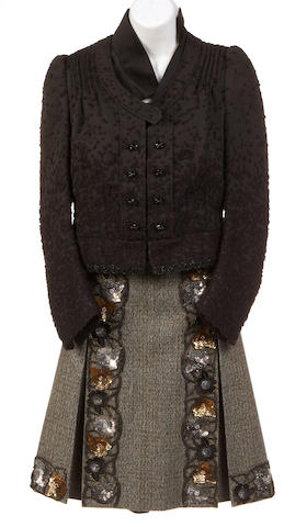 A Alberta Ferretti black jacket with black rhinestone buttons