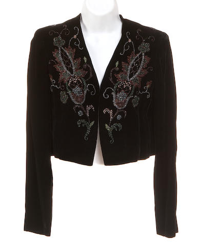 A Givenchy black beaded velvet bolero jacket