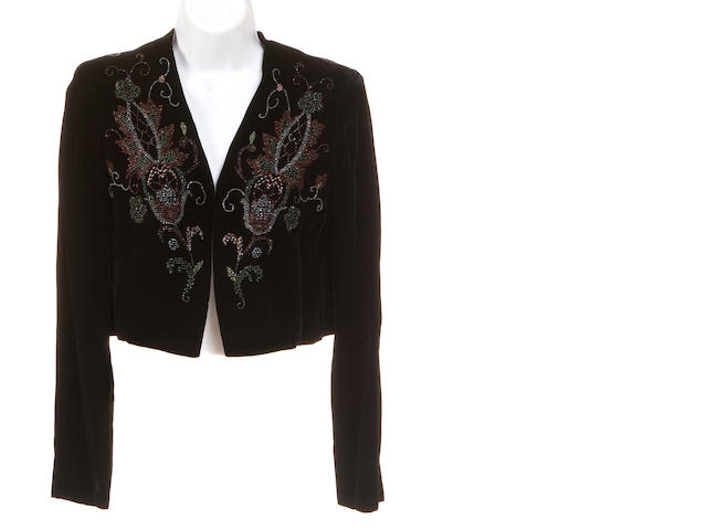 A Givanchy black velvet bolero jacket