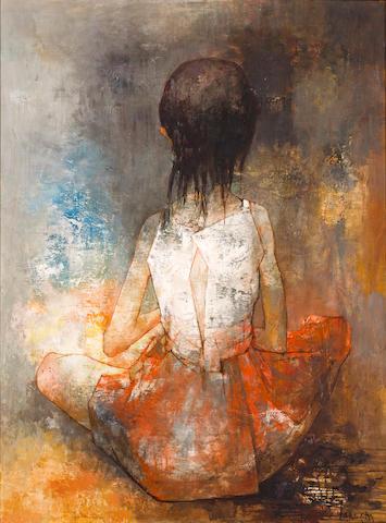 Jean Jansem (French, born 1920) Femmes Cousant, 1960