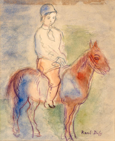 Raoul Dufy (French, 1877-1953) Enfant à chevaux 8 1/2 x 7in. (21.5 x 17.8cm)