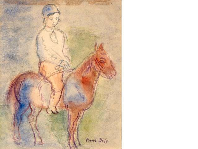 Raoul Dufy (French, 1877-1953) Untitled (child on horseback)