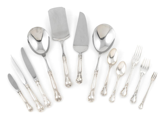 An American  sterling silver  part flatware service for fourteen Gorham Mfg. Co., Providence, RI,  20th century