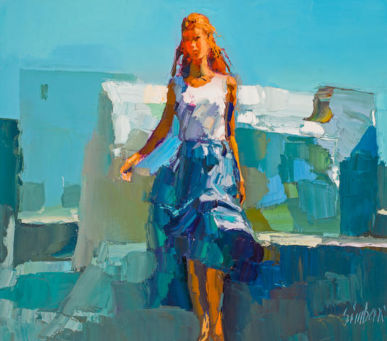 Woman Walking<BR /> oil on canvas