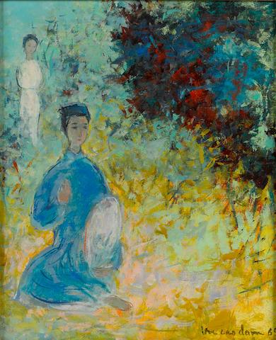Vu Cao Dam (1908-2000) Le Poèté 10 7/8 x 8 7/8in. (27.5 x 22.5cm)