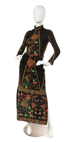 A Yannis Tseklenis blouse and skirt