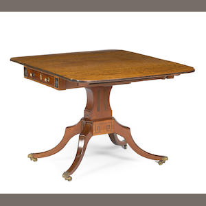A Regency mahogany drop leaf table first half 19th century