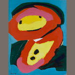 Karel Appel (Dutch, 1921-2006) Untitled, 1969 25 5/8 x 19 3/4in. (65 x 50cm)