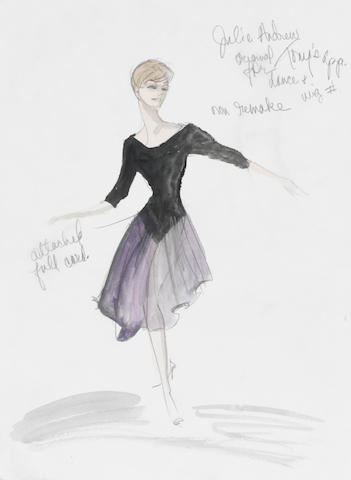Am Edith Head Studios Julie Andrews costume sketch from The Lucy Show