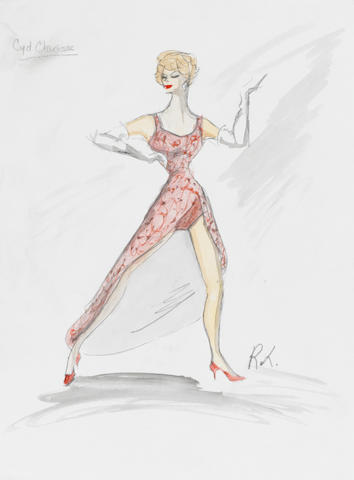 A Cyd Charisse costume sketch from The Lucy Show