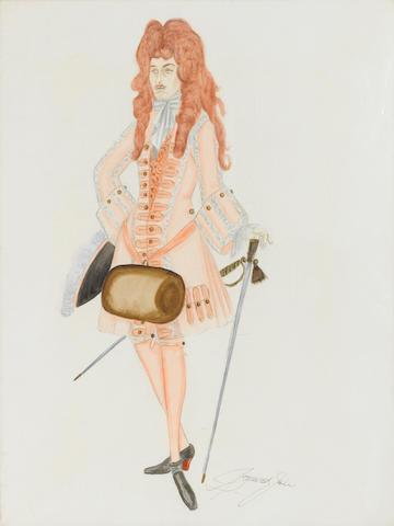 A Dick Turpin costume sketch