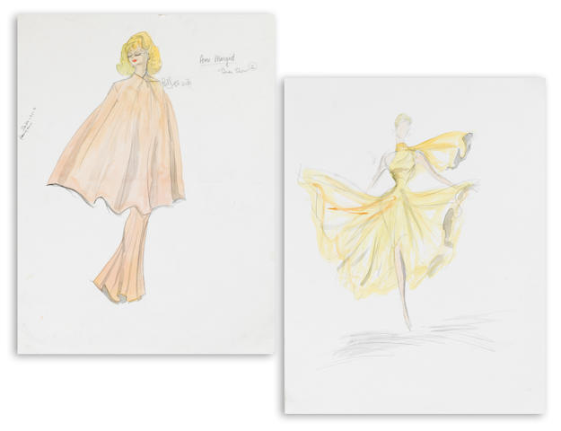 A pair of Ann-Margret costume sketches from The Dean Martin Show