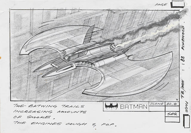 A Batman storyboard