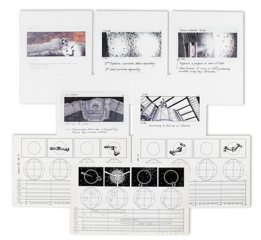 A GROUP OF FIVE STORYBOARDS AND THREE SPECIAL EFFECTS SHEETS FROM THE LAST STARFIGHTER
