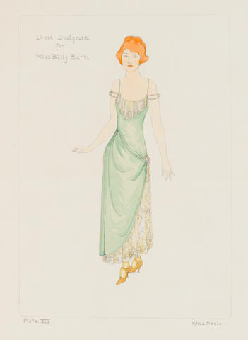 A Billie Burke costume sketch