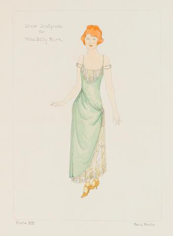 A Billie Burke costume sketch