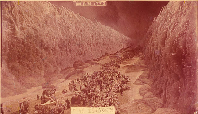 A special effects photograph from The Ten Commandments, 1956