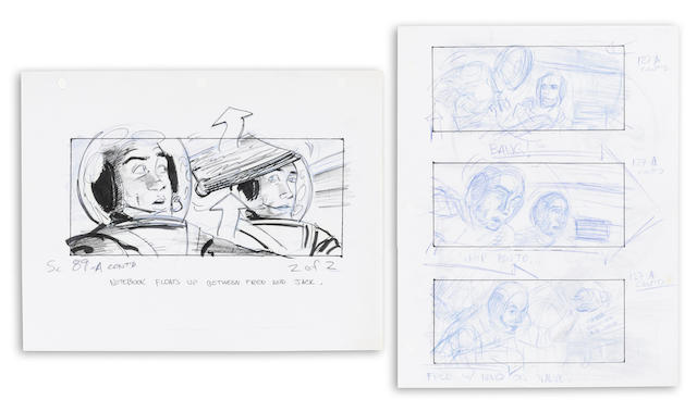 A pair of storyboards from Apollo 13
