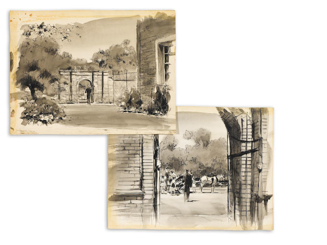 A pair of Saratoga Trunk scene studies