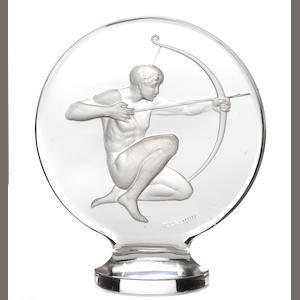 An 'Archer' mascot by René Lalique, French, 1928,