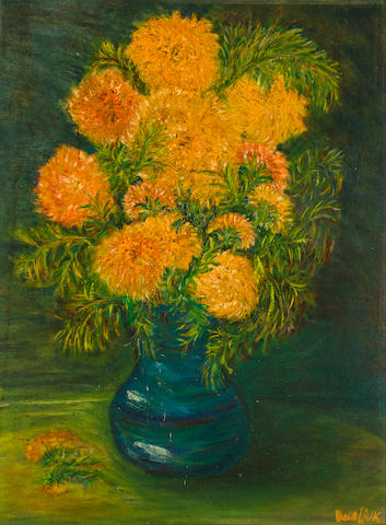 David Burliuk (1882-1967) Vase of Flowers 24 x 18 in. (61 x 45.7cm)