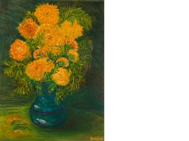 David Burliuk (1882-1967) Vase of Flowers 24 x 18 in. (61 x 45.7cm)