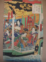 Utagawa school (19th century)<BR />Thirty-one woodblock prints