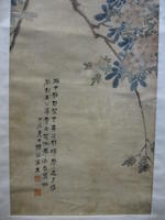 Various Artists Two hanging scrolls of Birds and Flowers