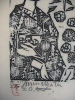 Shiko Munakata (1903-1975)<BR />One monochrome print