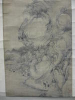 Attributed to Xu Fang (1622-1694)  Ink Landscape