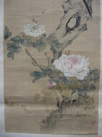 Various Artists (19th/20th century) Two hanging scrolls of Birds and Flowers