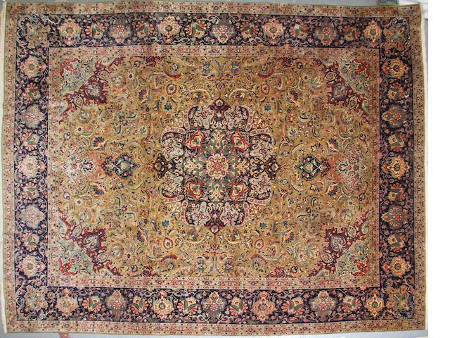 A Tabriz carpet  size approximately 10ft. x 12ft. 5in.