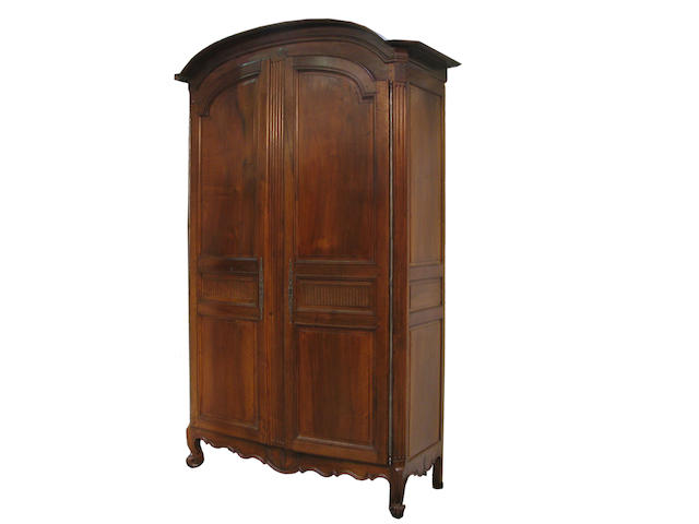 A Louis XV walnut armoire late 18th century