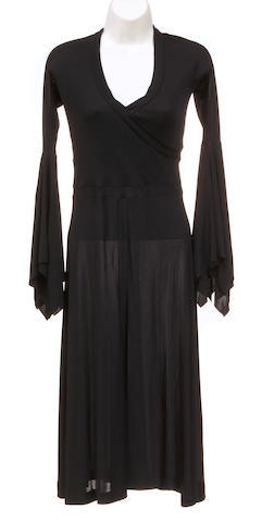 A Yves St. Laurent Rive Gauche black jersey dress