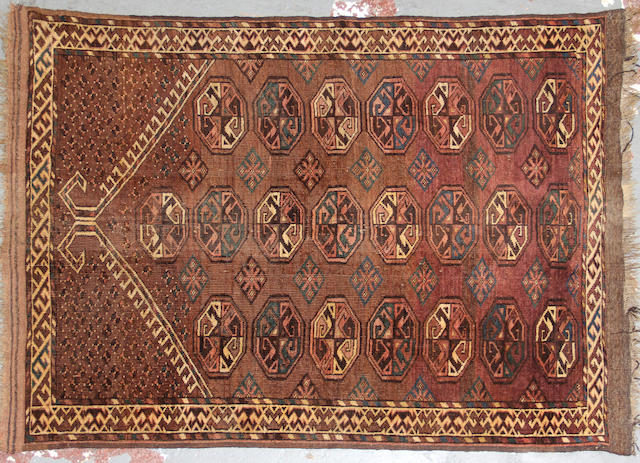 A Turkoman rug size approximately 3ft. 5in. x 4ft. 6in.