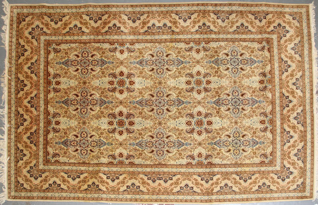 A Kashan long carpet  size approximately 6ft. 10in. x 10ft. 8in.